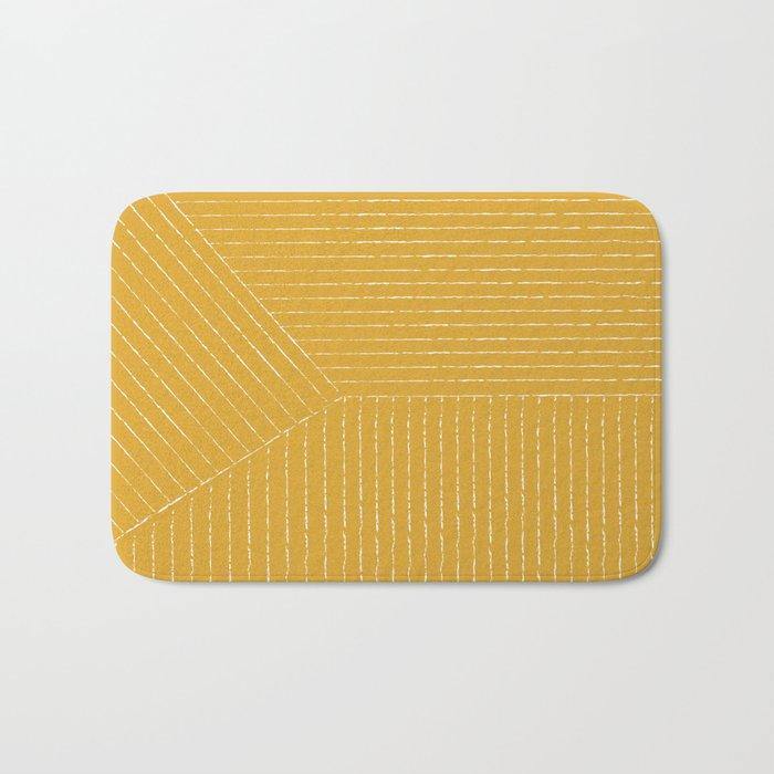 Lines (Yellow) Badematte