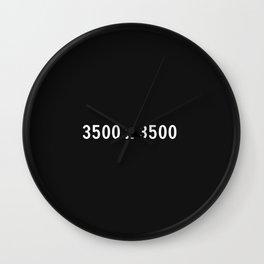 3000x2400 Placeholder Image Artwork (Squarespace Black) Wall Clock