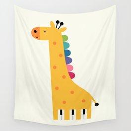 Giraffe Piano Wall Tapestry