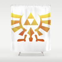 triforce Shower Curtains featuring Triforce by Wicttor