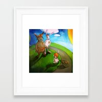 rabbits Framed Art Prints featuring Rabbits by András Balogh
