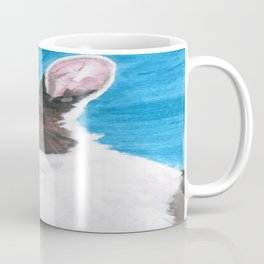 Dutch the blue-eyed rescue rabbit Coffee Mug