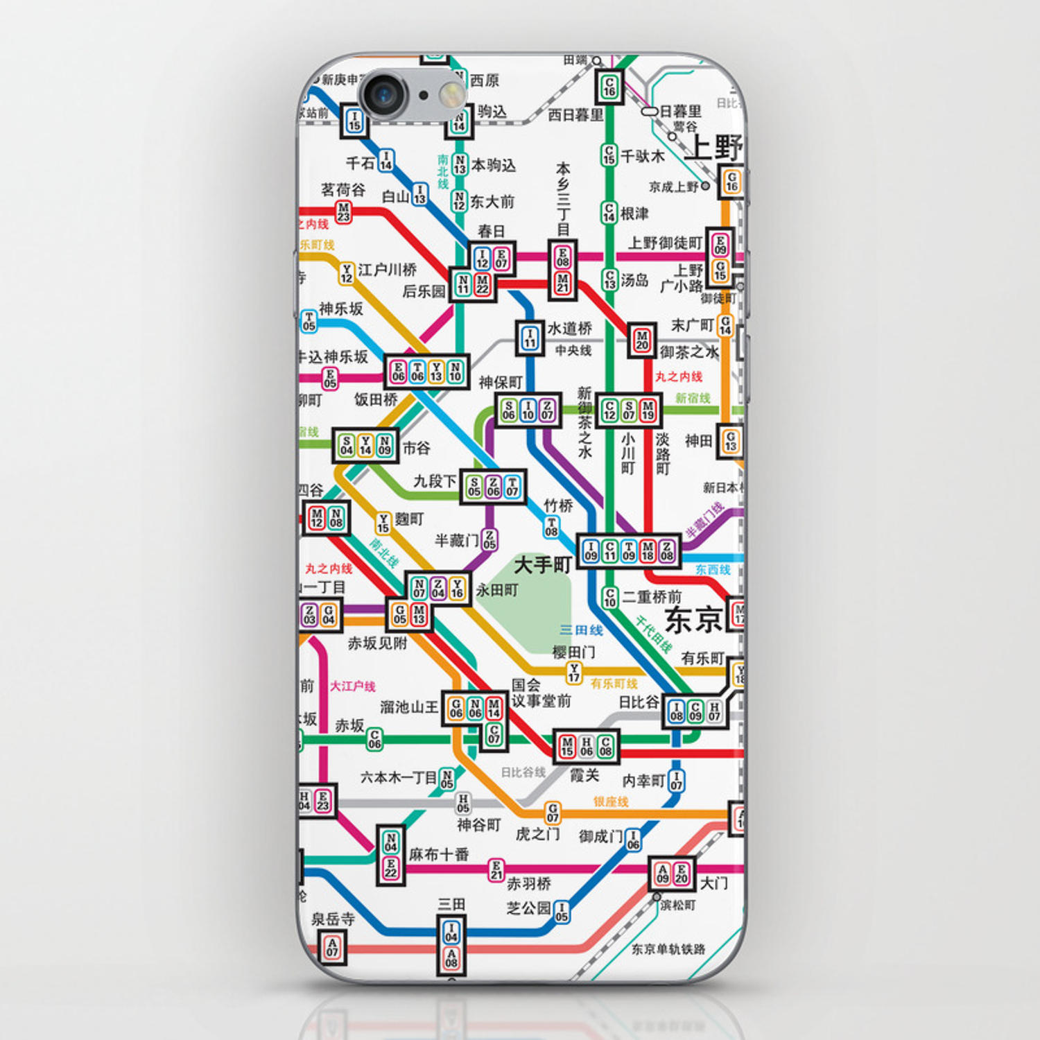 Subway Map Phone.Tokyo Subway Map Iphone Skin By Dizzymoments