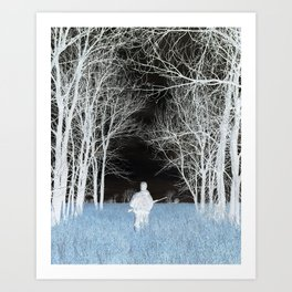 Man Lost In Nature Art Print