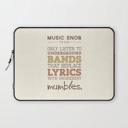 Mumbling Bands — Music Snob Tip #095 Laptop Sleeve