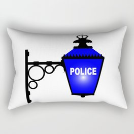 Police Station Blue Light Rectangular Pillow