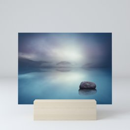 Silent Blue Mini Art Print