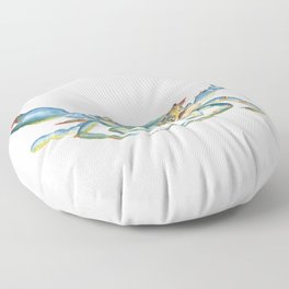 Colorful Blue Crab Floor Pillow