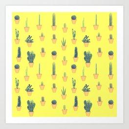 cacti patten Art Print