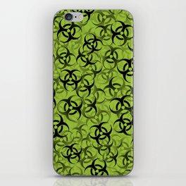 Biohazard (black on green) iPhone Skin