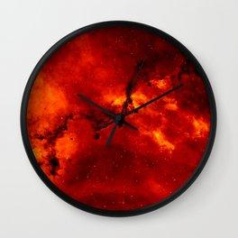 Red Galaaxy Fire Pattern Wall Clock