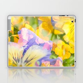 The Iris and Yellow Pansy Flowers Laptop & iPad Skin