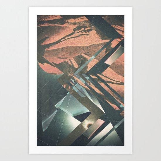 Mars Trails Art Print