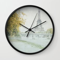 Letters From Cygnes - Paris Wall Clock