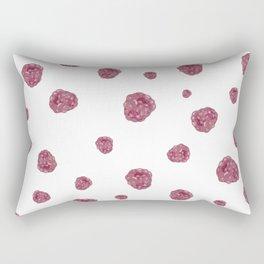 Pink & white raspberry watercolor pattern Rectangular Pillow