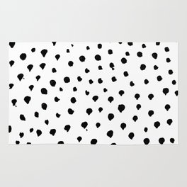 Dalmatian dots black Rug