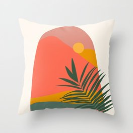 Tropical Landscape Throw Pillow