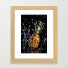 A splash of pineapple Framed Art Print