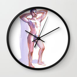 COLBY, Nude Male by Frank-Joseph Wall Clock
