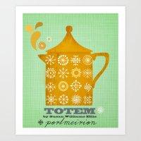 totem Art Prints featuring Totem by Elisandra