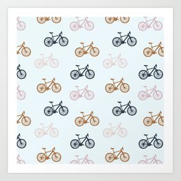 Bike pattern Art Print