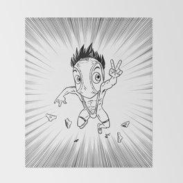 KWeb #6 : Hentai Kamen (black & white) Throw Blanket