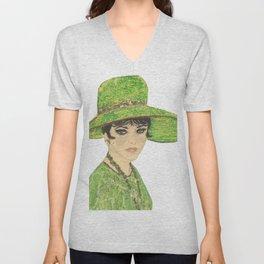 Lady In Green Unisex V-Neck