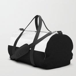 Marble Black White Duffle Bag