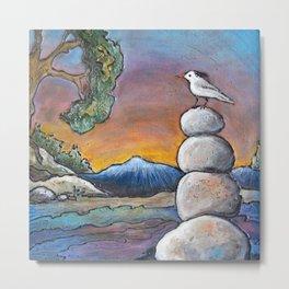 Rock Pile in the Rocky's *Little Bird Metal Print
