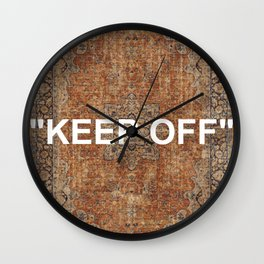 KEEP OFF - antique persian rug Wall Clock