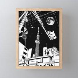 Night in Tokyo 2020 Framed Mini Art Print