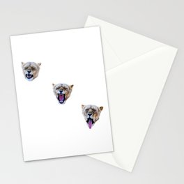 Yawning Lions Stationery Cards