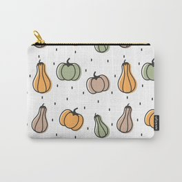 cute colorful pumpkins pattern background illustration Carry-All Pouch