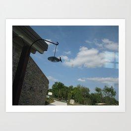 Humming bird on a feeder Art Print