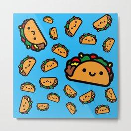 Happy Taco Metal Print