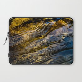 River Ripples in Copper Gold and Brown Laptop Sleeve