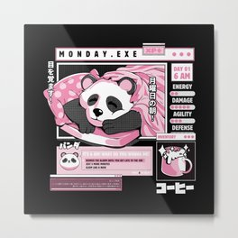 Monday.exe Metal Print