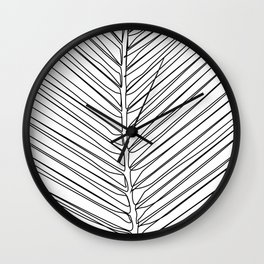 """""""Botanical Collection"""" - Palm Tree Leaf Wall Clock"""