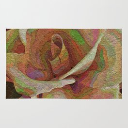 Textured Rose Rug