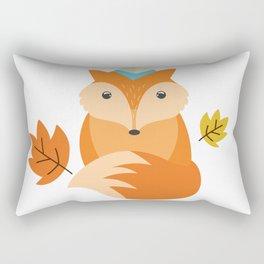 Little Fox Happy Autunm - Fall Begins Rectangular Pillow