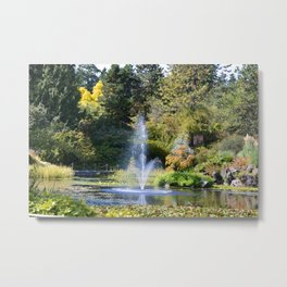 Fountain at VanDusen Botanical Garden Metal Print