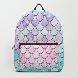 Mermaid Pastel Pink Purple Aqua Teal Backpack