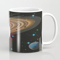 planets Mugs featuring Planets by Kaitlynn Marie