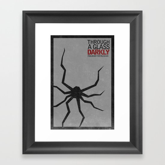 THROUGH A GLASS DARKLY Framed Art Print