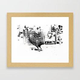 Rodeo Bull Riding Champ Framed Art Print