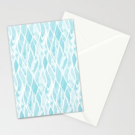 Sand Flow Pattern - Light Blue Stationery Cards