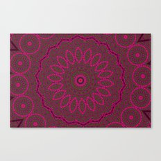 Lovely Healing Mandalas in Brilliant Colors: Plum, Copper, and Pink Canvas Print