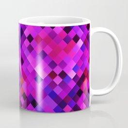 Purple Red Lilac Bright Squares Coffee Mug