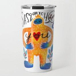 Sasquatch Loves You Travel Mug