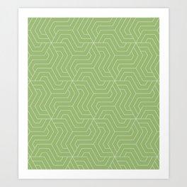 Olivine - green - Modern Vector Seamless Pattern Art Print